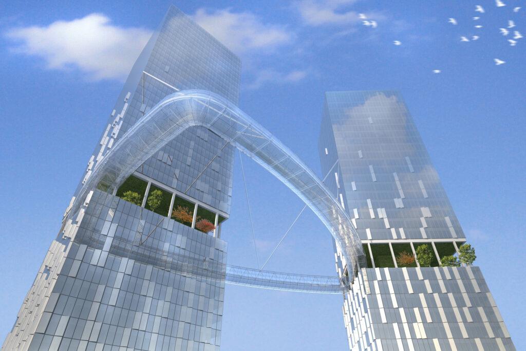 East Harbour Twin Towers Dalian China