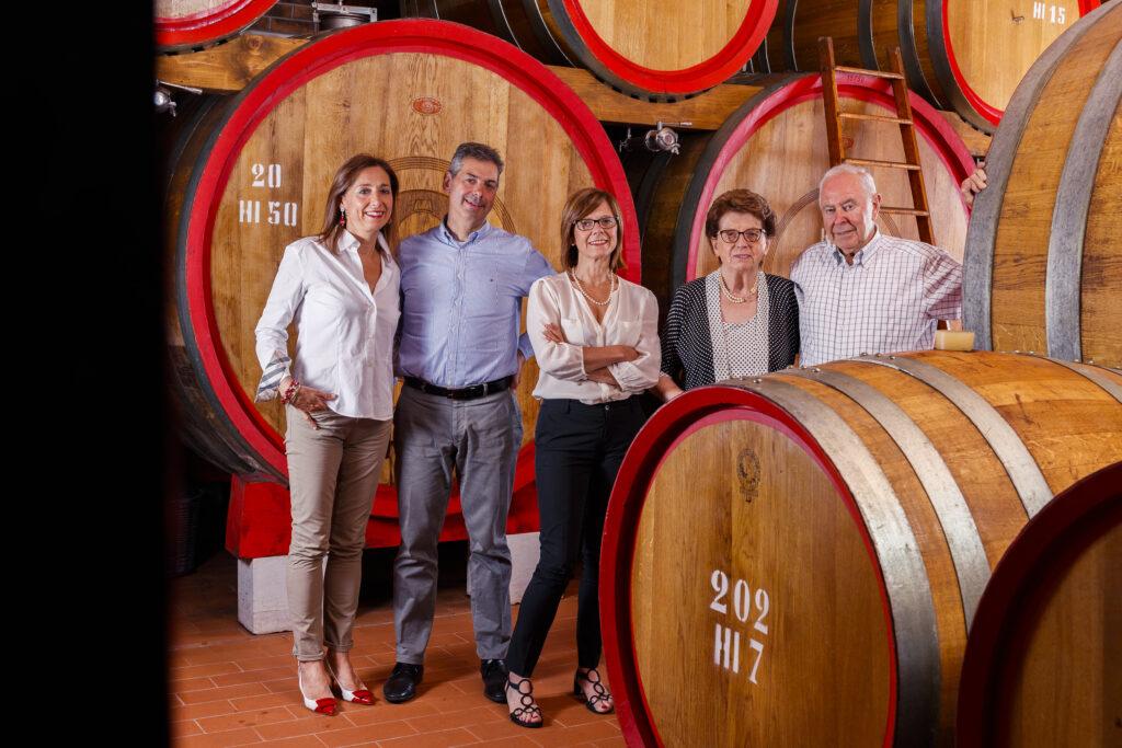 Tedeschi family in aging cellar