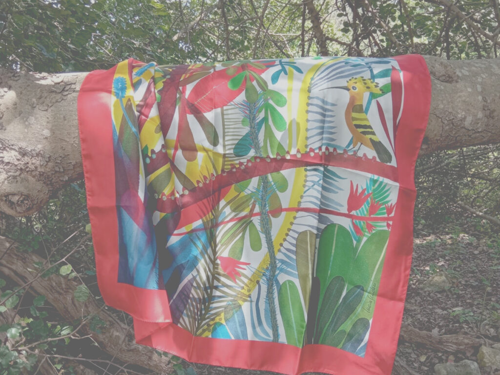 Foulard Il giardino dell'upupa