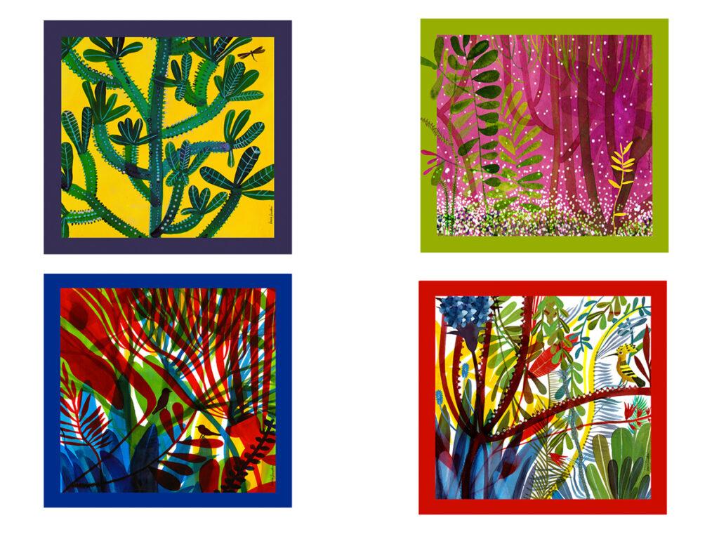 Quattro giardini quattro foulard